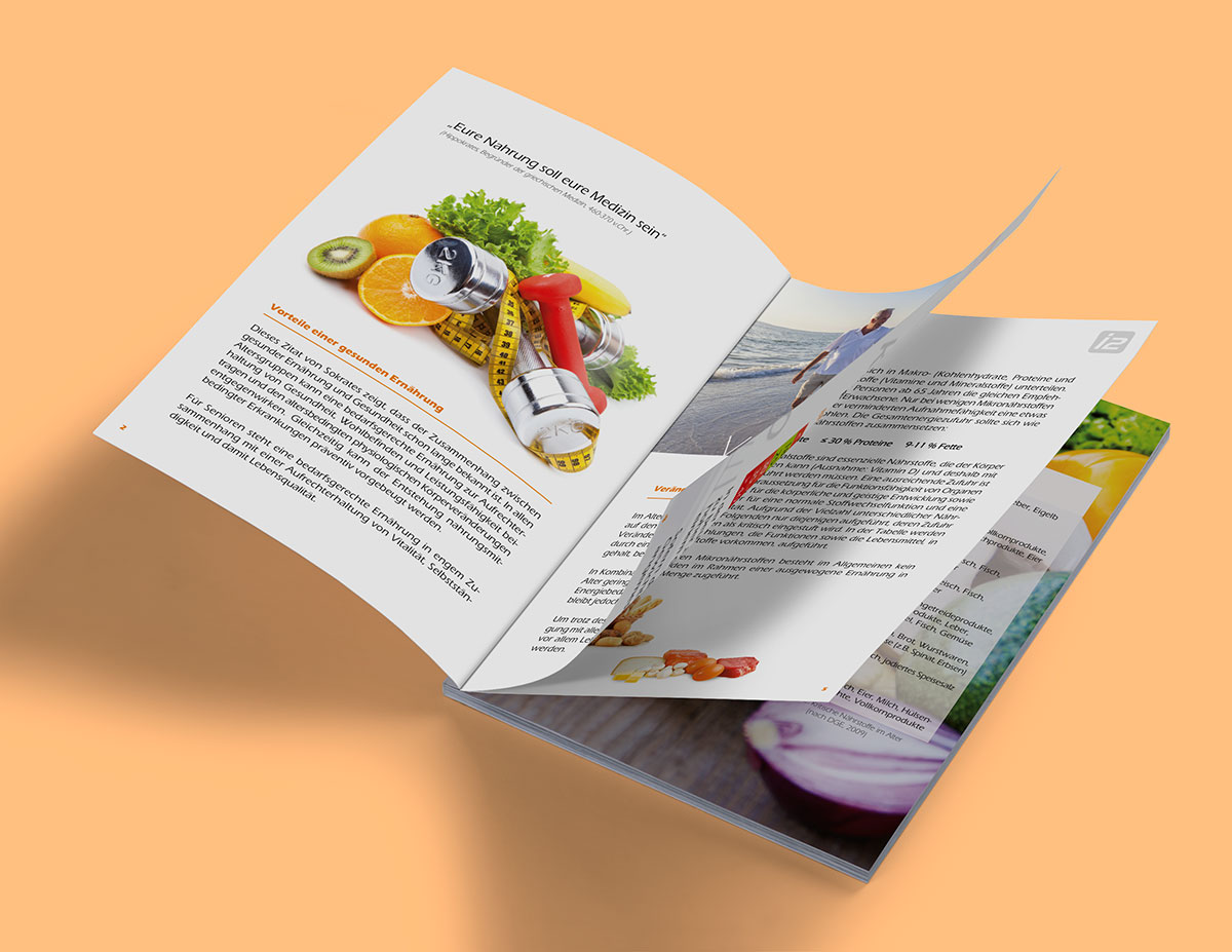Informationsbroschüre im Format DIN A5