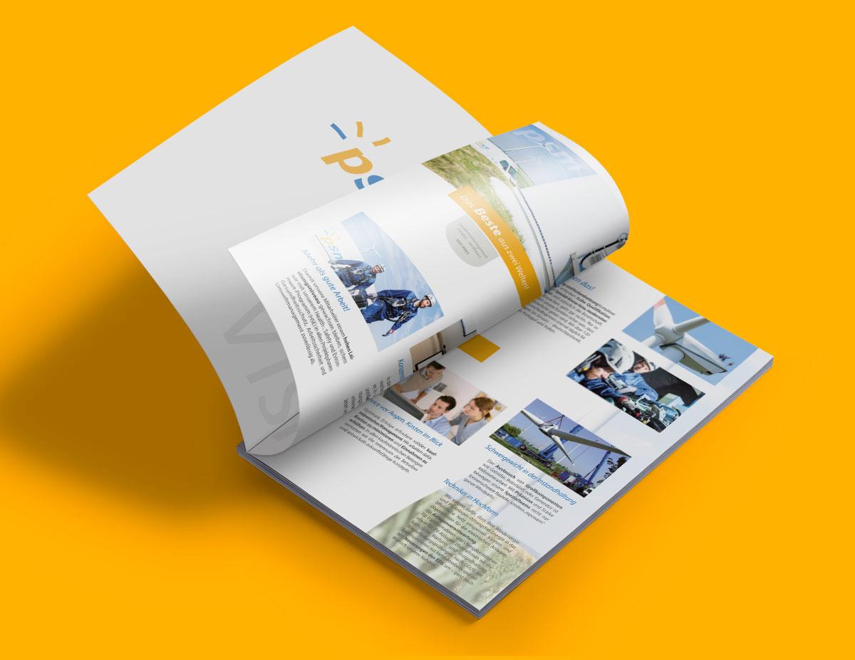 Imagebroschüre mit Spotlackierung im Format DIN A4
