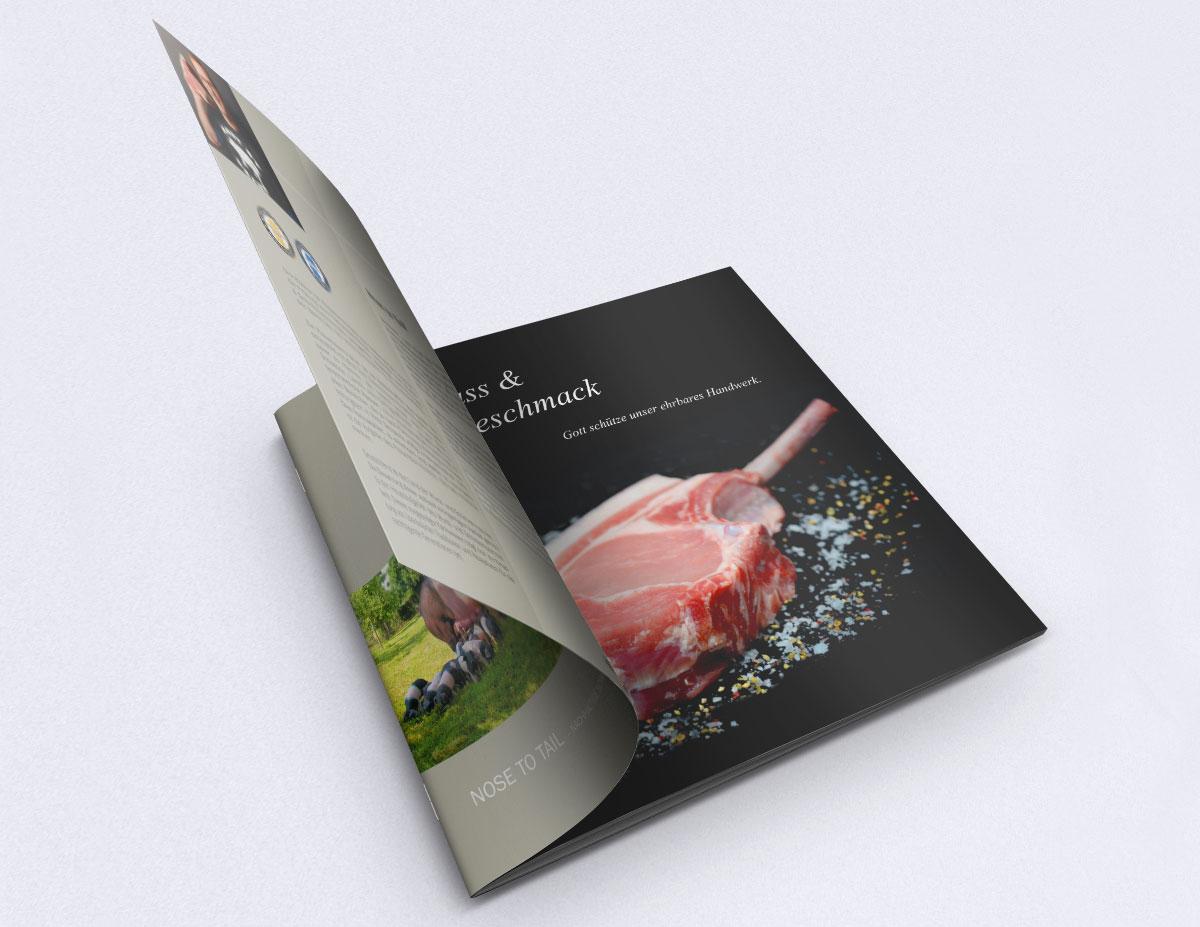 Hochwertige Broschüre für exklusive Produkte