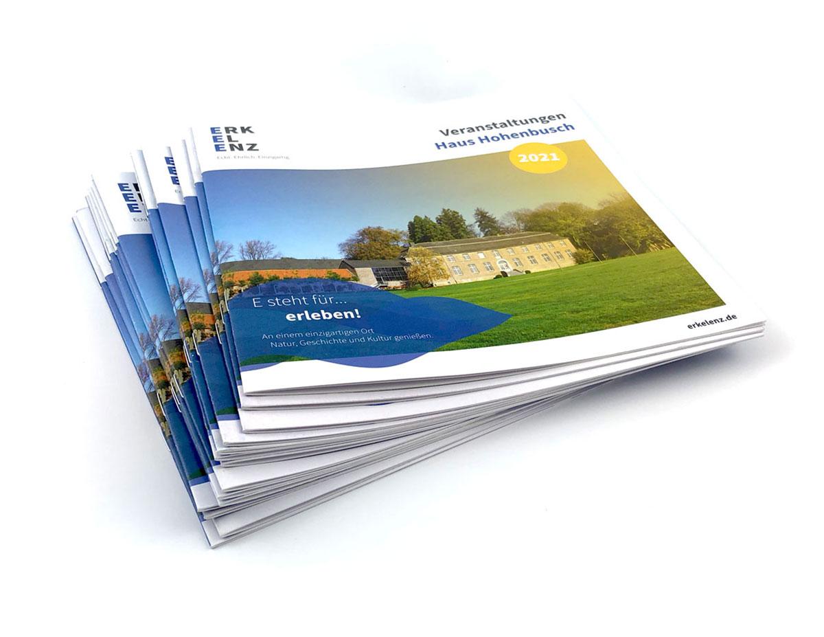 Jahresprogramm Haus Hohenbusch / Broschüre im handlichen Quadratformat